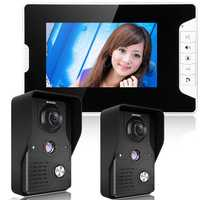 ENNIOSY813MK21 7inch TFT LCD Video Door Phone Doorbell Intercom Kit 2 Cameras 1 Monitor Night Vision
