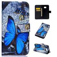 PU Leather Flip Open Case TPU Back Cover Case For Samsung Galaxy S7