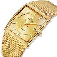 WWOOR 8831 Square Dial Luminous Display Men Wrist Watch