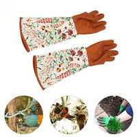 Garden Long Sleeve Glove 1 Pair Hands Waterproof Pruning Trimming Protecting Thickened Gloves Tools