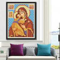 25x30cm 5D DIY Diamond Painting Religion Culture Rhinestone Cross Stitch Kit Home Decoration