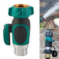 3/4 Inch Garden Hose 1 Way Shut Off Valve Water Pipe Faucet Connector US Standard Thread
