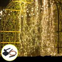 Solar Powered 8 Modes 100 LED Christmas Tree Fairy String Wedding Home Party Light Copper Wire DC2V
