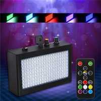 180 LED Colorful Strobe Flash Stage Lights Sound Activated Disco Lights with Remote Control
