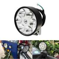 12V-80V DC 15W LED Headlight Motorcycle Headlamp Rainproof Bicycle Rear View Mirror Handlebar Light