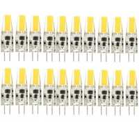 20X Dimmable G4 2W Warm White COB LED Bulb Chandelier Light Replace Halogen Lamps DC/AC12V
