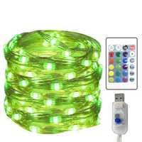 5 Meters 50 Light LED Four-wire 16 Color USB with Remote-Controlled Adjustable Copper Light Four-wir