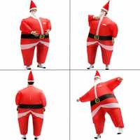 AirSuits Inflatable Santa Father Christmas Fancy Dress Costume Air Blimp Suit