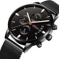 CRRJU 2222 Business Mesh Belt Men Luminous Quartz Watch