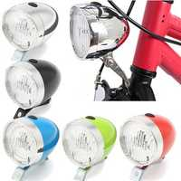 BIKIGHT Retro Bicycle Bike 3 LED Front Light Vintage Headlight Flashlight Lamp Lighter