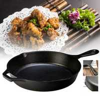 26cm Non-stick Iron Cast Frying Pan Skillets Cookware Kitchen Cooking Tools