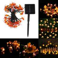 Solar Powered Waterproof Honey Bee Shape 50 LED String Light Garden Yard Decoration Lamp