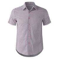 TWO-SIDED Casual Business Dots Printing Button up Shirts