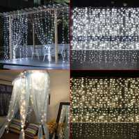 3M*3M 304 LED Window Icicle Curtain Fairy String Light Wedding Party Home Decor US Plug AC110V