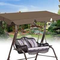 190x132cm Swing Chair Top Cover Waterproof Cover Outdoor Camping Replacement Canopy