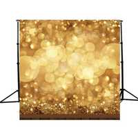 10x10ft Golden Spots Glitter Sparkl Photography Background Backdrop Studio