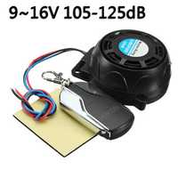 Anti-Locator Motorcycle 105-125dB Security Alarm System Anti Theft Remote Control Set