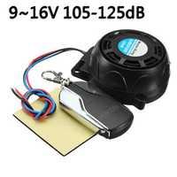 Anti-Locator Motorcycle 105-125dB Security Alarm System Anti Theft Remote Control Set
