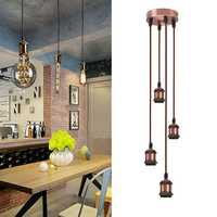 4-Light Modern Retro Industrial Pendant E27 Hanging Ceiling Light Table Lamp Cluster Holder