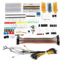 Electronic Components Base Starter Kits With Breadboard Resistor Capacitor LED Jumper Cable For Arduino With Plastic Box Package