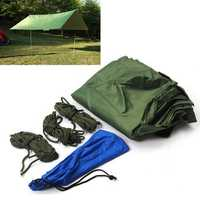 Portable 3-4 Person Lightweight Camping Tent Waterproof Tarp Rain Shelter Mat Hammock Cover