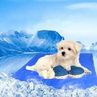 Pet Cool Ice Pad Teddy Mattress Mat Dogs Cat Cage Cushion Summer Keep Cool Bed Animal Cooling Gel