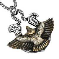 Men's Titanium Steel Eagle Pendant Never Fade Punk Necklace