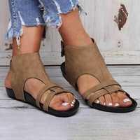 Women Flats Sandals Comfy Sole Buckle Strap Shoes