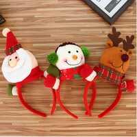 Christmas Headband Reindeer Antlers Santa Ear Hair Hoop Christmas Party Hair Accessories Deer Hair Buckle Decoration