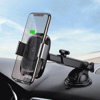 Baseus Smart Infrared Sensor Auto Lock 10W Qi Wireless Fast Charge Car Phone Holder for iPhone XS