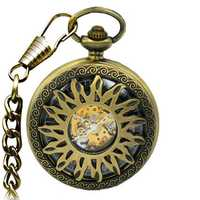 JIJIA JX003 Hot Wheels Hollow Case Mechanical Pocket Watch