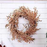 Christmas Wreath Simulation Wreath Pine Fruit Garland For Christmas Home Door Hanging Decorations