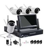 Hiseeu 4CH 7 Inch Displayer NVR 960P Wireless IR Night Vision Camera Security IP Surveillance Kit