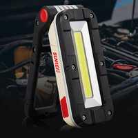 SUNREI V1000 COB+LED 180° Adjustable Magnetic Tail LED Work Light USB Rechargeable Flashlight Multi-function EDC Flashlight