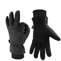 Outdoor Sport Men Women Winter Warm Gloves Ski Skiing Deerskin Leather Cycling