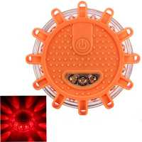 Auto 15 LED Motorcycle Round Beacon Emergency Strobe Flashing Warning Lights Safety