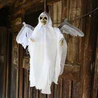 New Halloween Party Decoration Sound Control Creepy Scary Animated Skeleton Hanging Ghost