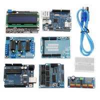 UNO R3 Protoshield LCD Keypad Shield Servo Motor Starter Module Kit For Arduino Beginner