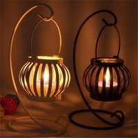 Candle Holders Lantern Glass Iron Art Candle Holder Candelabrum Candle Stick Home Decor Gift