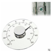 Clear Fahrenheit Celsius Degree Circular Outdoor Thermometer Hygrometer Temperature Humidity Meter