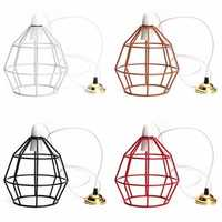 B22 Vintage Industrial Style Metal Cage Wire Frame Ceiling Pendant Light Lamp Shades 110-240V
