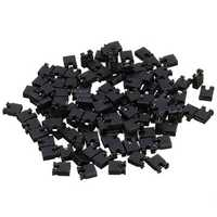 100pcs 2.54mm Jumper Cap Short Circuit Cap Pin Connection Block