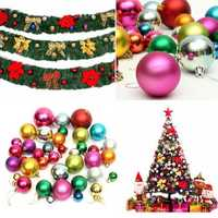 36pcs Mixed Christmas Bubble Ball Christmas Tree Hanging Ornament Party Home Decoration