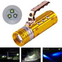 XANES 450LM 3 Color LEDs 200-300m Range Zoomable Rechargeable Fishing Flashlight With Charger