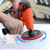 800W 125MM Electric Car Polisher Buffer Sander Waxing Tools Kit Adjustable Speed