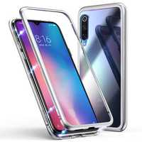 Bakeey 360° Magnetic Adsorption Metal Tempered Glass Flip Protective Case for Xiaomi Mi 9 SE