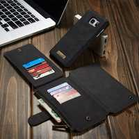 CaseMe Removable PU Zipper Wallet Card Case Cover For Samsung Galaxy Note 5