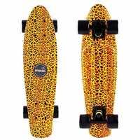 EPROCOOL Leopard Print Fish Skateboard Small Retro Skateboard Longboard EC-FLGL01