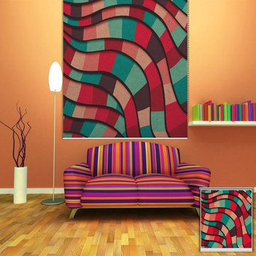 PAG Abstract Color Wall Decor Window Curtain Roller Shutters Print Painting Roller Blind Background