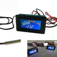 DC 5-25V Thermometer Temperature Digital Display Meter For Computer Car Water Celsius Measurement +1M Probe Car Thermometer